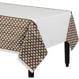 Gold Scalloped Table Cover | Amscannull