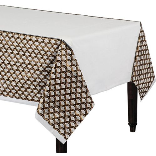 Gold Scalloped Table Cover