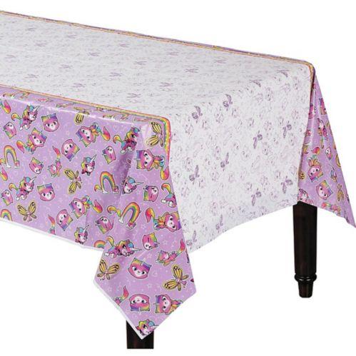 Rainbow Butterfly Unicorn Kitty Table Cover