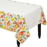 Bright Floral Table Cover | Amscannull