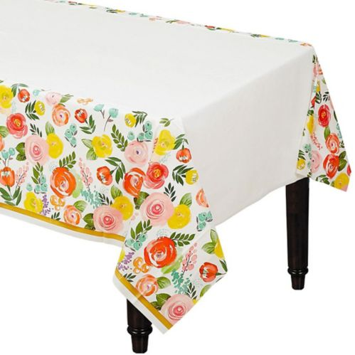 Bright Floral Table Cover