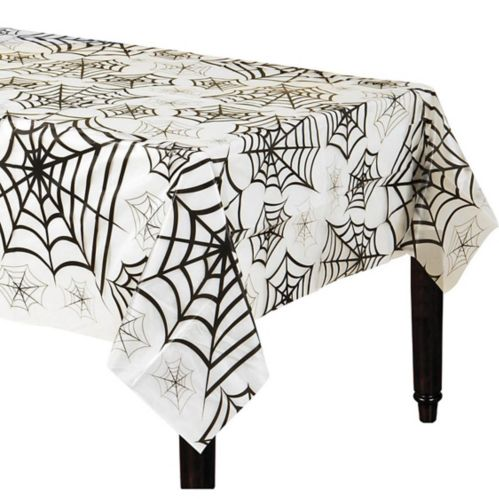 Spider Web Clear Plastic Table Cover