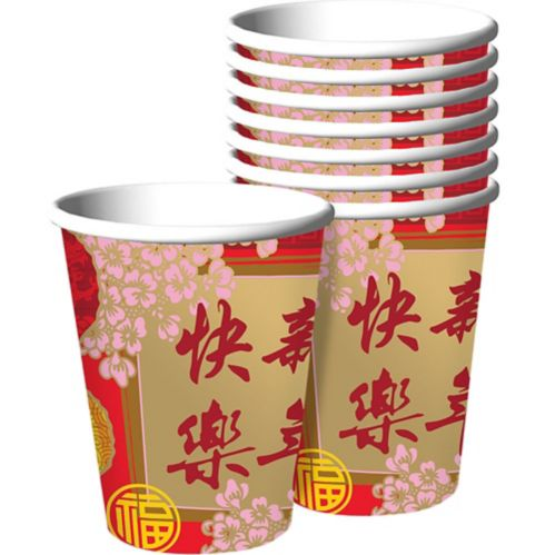 Blessings Chinese New Year Cups, 8-pk