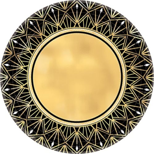 Metallic Hollywood Dinner Plates, 8-pk Product image