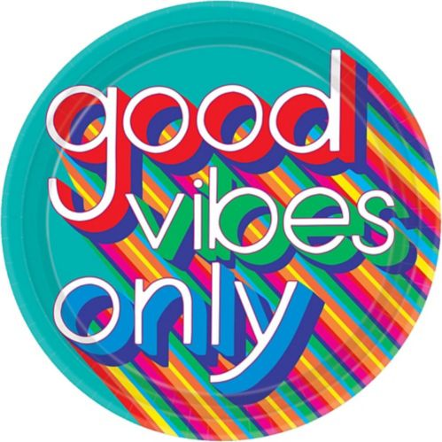 Good Vibes '70s Dinner Plates, 8-pk Product image