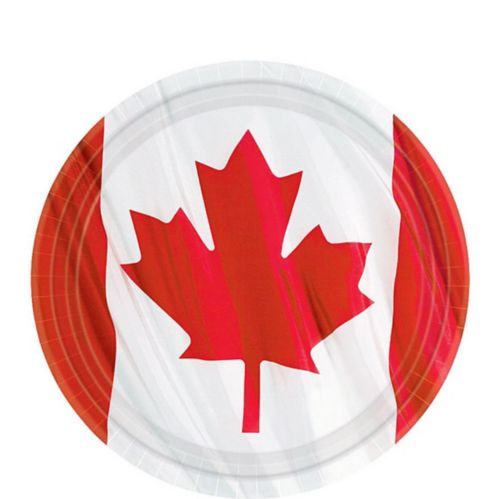 Waving Canadian Flag Lunch Plates