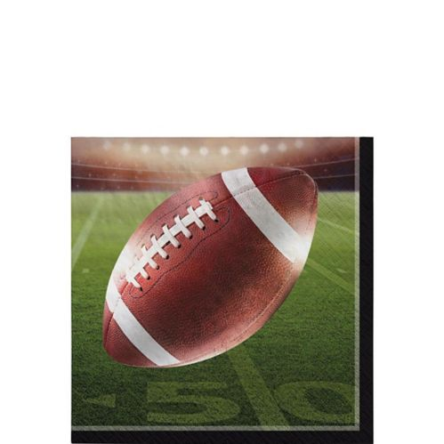 Go Fight Win Football Beverage Napkins, 36-pk
