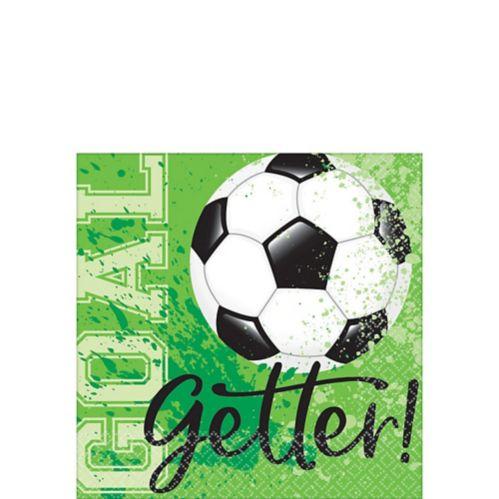 Serviettes à boisson Goal Getter Soccer, paq. 36 Image de l'article