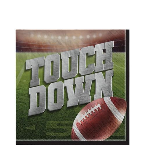 Go Fight Win Football Lunch Napkins, 36-pk
