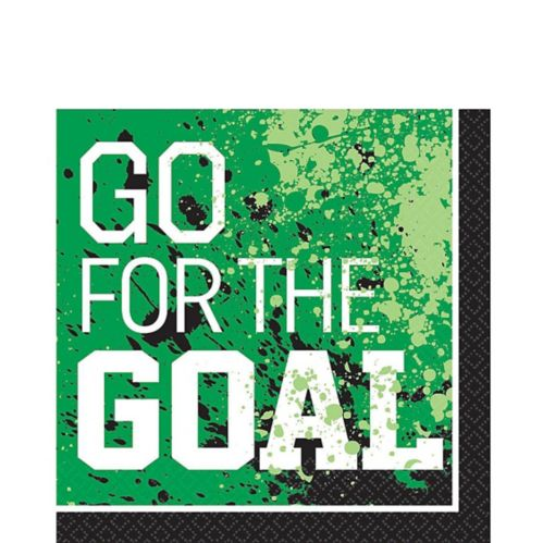 Goal Getter Soccer Lunch Napkins, 36-pk