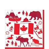 Canada Lunch Napkins, 36-pk | Amscannull