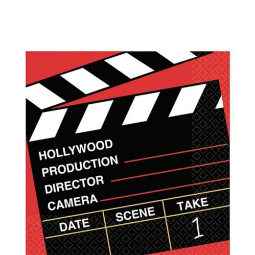 Clapboard Hollywood Lunch Napkins, 36-pk
