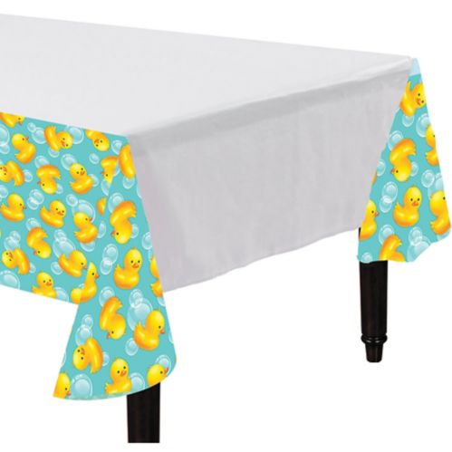 Rubber Ducky Baby Shower Table Cover