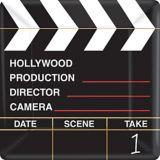 Clapboard Hollywood Dinner Plates, 18-pk | Amscannull