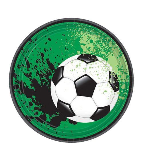 Goal Getter Soccer Dessert Plates, 18-pk