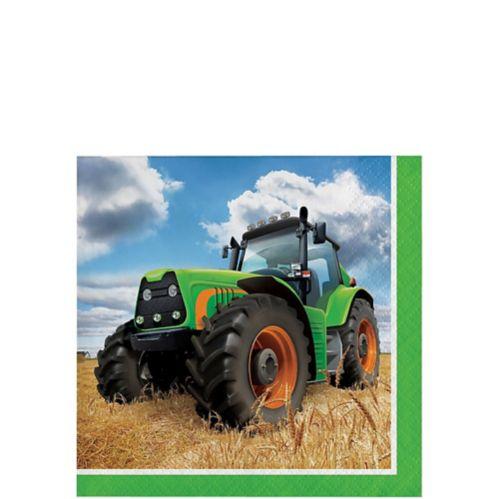 Tractor Time Beverage Napkins, 16-pk
