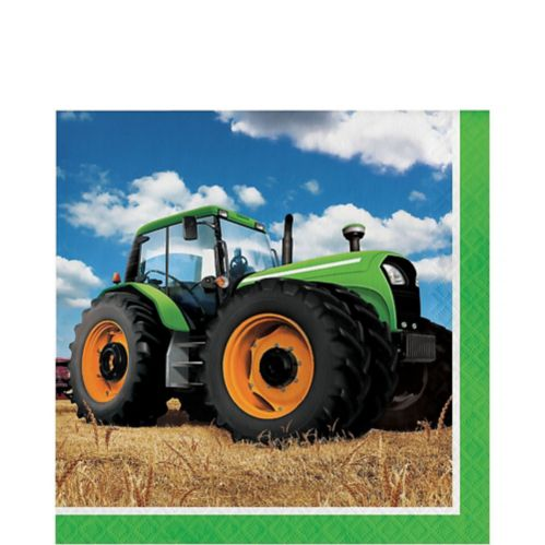 Tractor Time Luncheon Napkins, 16-pk