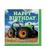 Tractor Happy Birthday Lunch Napkins, 16-pk