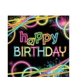 Neon Happy Birthday Lunch Napkins, 16-pk