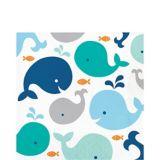 Serviettes de table Baleineau bleu, paq. 16