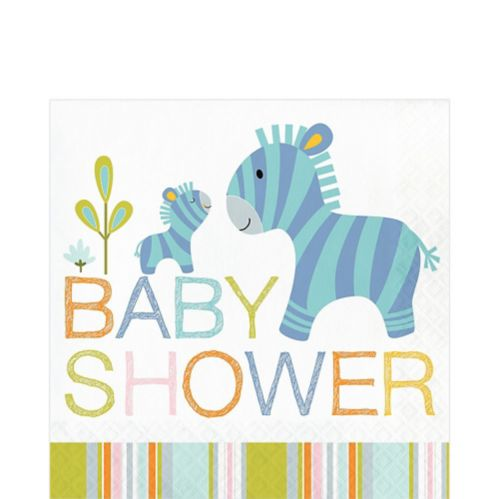 Happy Jungle Baby Shower Lunch Napkins, 16-pk