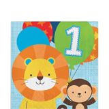 Blue One is Fun 1st Birthday Lunch Napkins, 16-pk