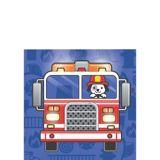 Serviettes à boissons Camion de pompier, paq. 16