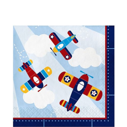 Airplane Lunch Napkins, 16-pk