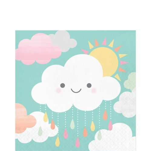 Happy Clouds Lunch Napkins, 16-pk