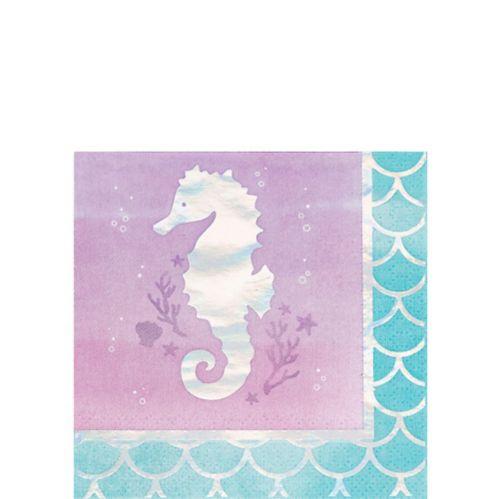 Shimmer Mermaid Beverage Napkins, 16-pk