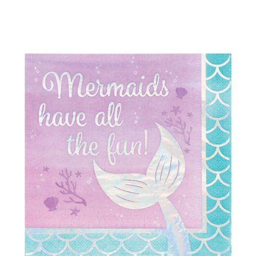 Shimmer Mermaid Fun Lunch Napkins, 16-pk