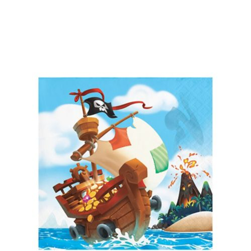 Treasure Island Pirate Beverage Napkins, 16-pk