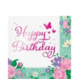 Floral Fairy Happy Birthday Lunch Napkins, 16-pk