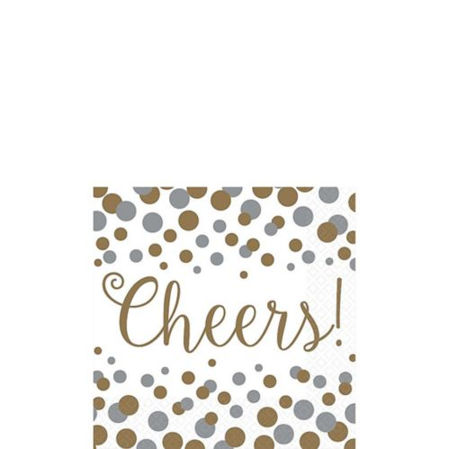 Bubbly Celebration Beverage Napkins, 16-pk