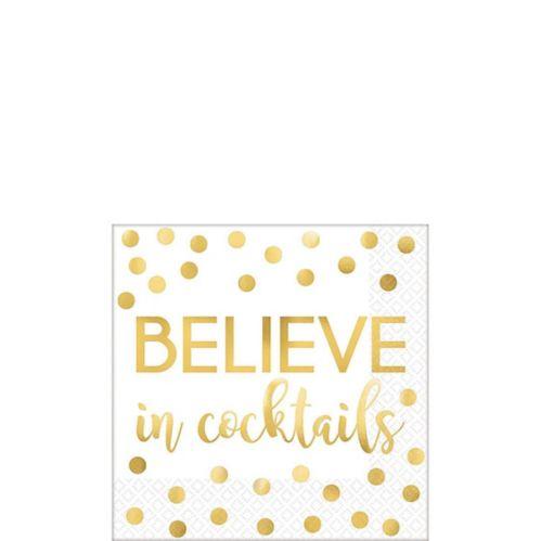 Believe In Cocktails Beverage Napkins, 16-pk Product image