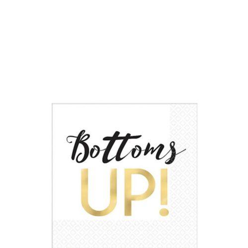 Bottoms Up Beverage Napkins, 16-pk