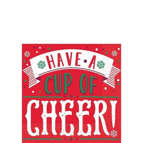 Cup of Cheer Beverage Napkins, 16-pk