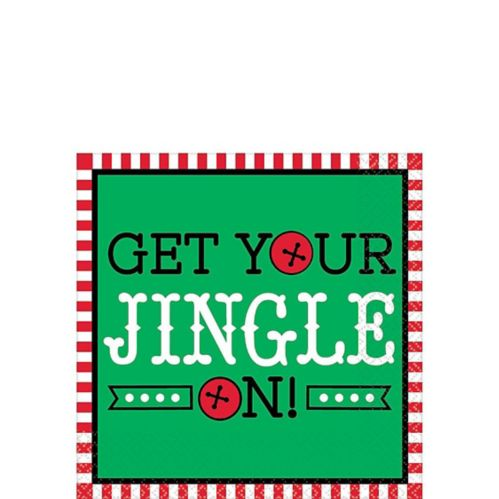 Get Your Jingle On Beverage Napkins, 16-pk