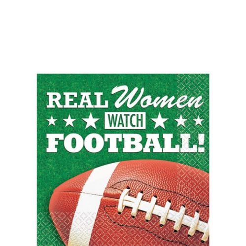 Serviettes à boisson Real Women Watch Football, paq. 16