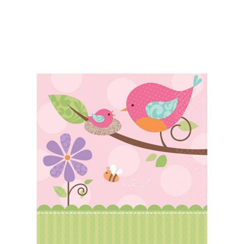 Serviettes pour boissons Tweet rose, paq. 16 Image de l'article