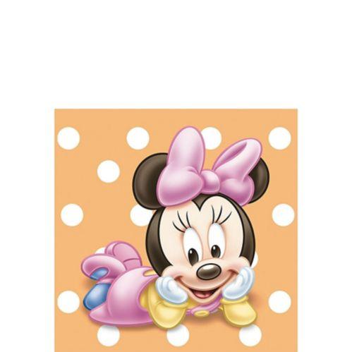 Serviettes à boisson Minnie Mouse pour 1er anniversaire, paq. 16