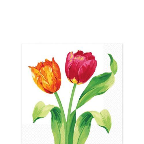 Spring Tulips Beverage Napkins, 16-pk Product image