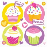 Value Cupcake Party Napkins
