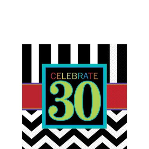 30th Birthday Celebrations Napkins, 16-pk
