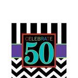 50th Birthday Celebrations Napkins, 16-pk