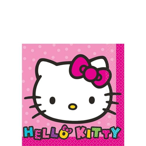 Serviettes à boisson Hello Kitty, arc-en-ciel, paq. 16