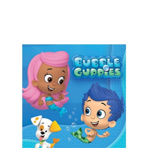 Bubble Guppies Beverage Napkins, 16-pk