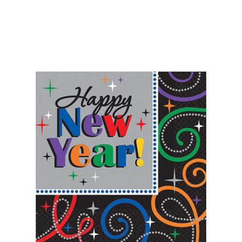 New Year's Cheers Beverage Napkins, 16-pk Product image
