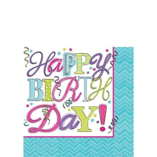 Sweet Birthday Beverage Napkins, 16-pk