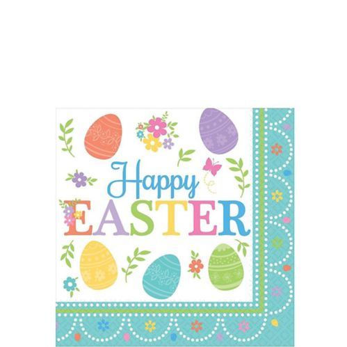 Egg-citing Easter Beverage Napkins, 16-pk